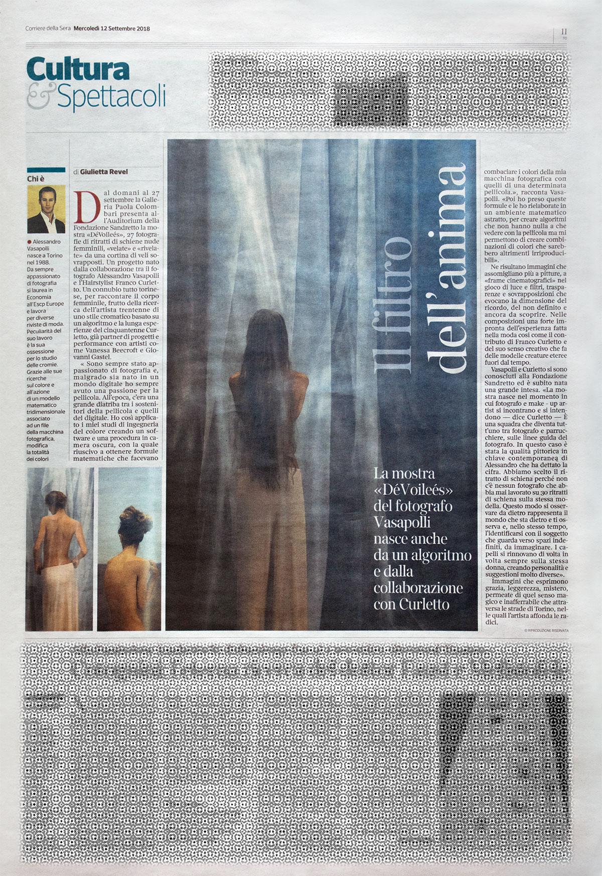 Articolo_Alessandro_Vasapolli_Corriere_della_Sera_DéVoilées