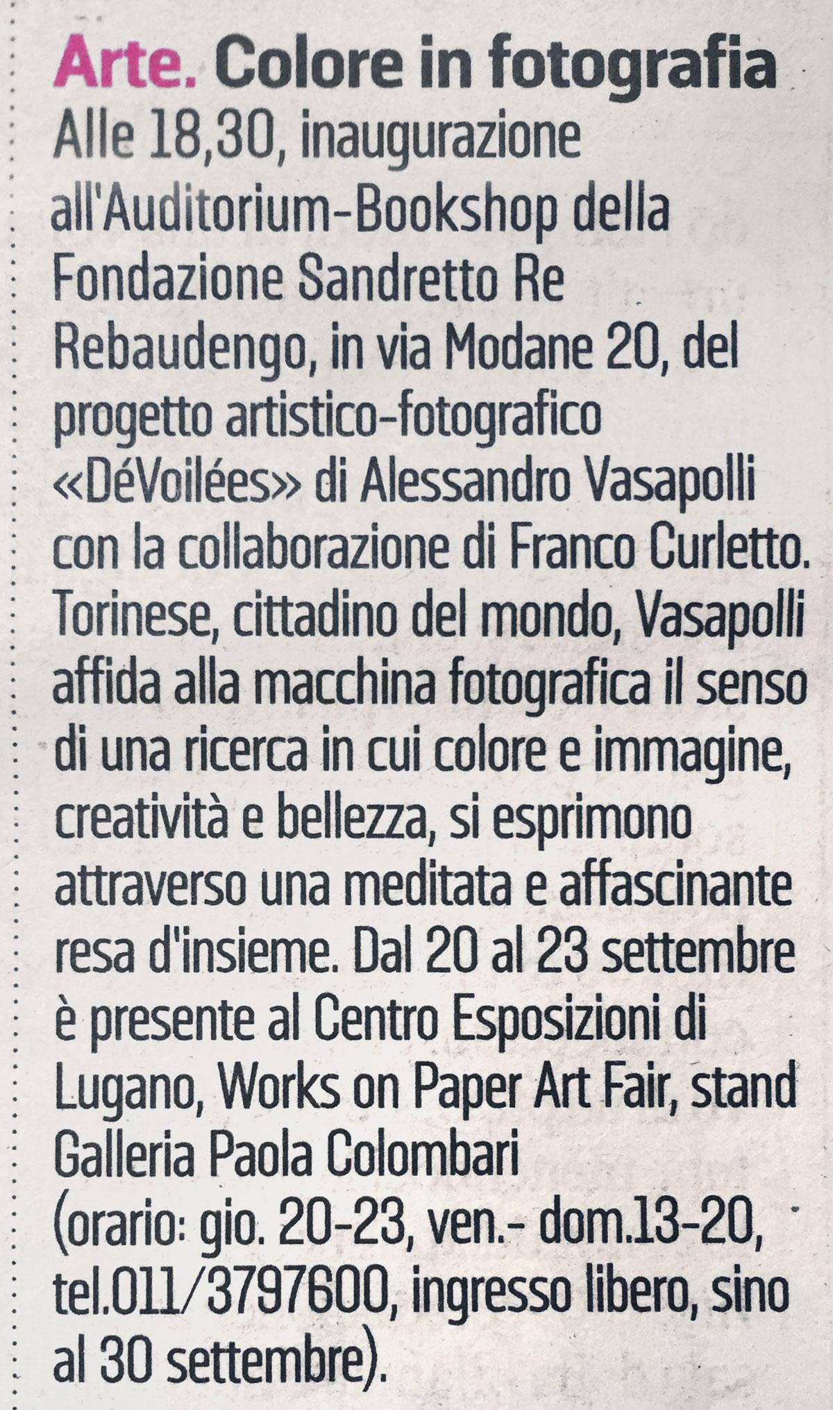 Alessandro_Vasapolli_DeVoilees_La_Stampa_Torino7_06_09_2018